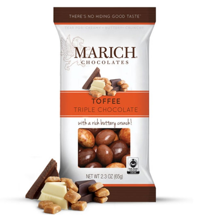 Marich Natural Triple Chocolate Toffee 4.5 oz (6 ct)